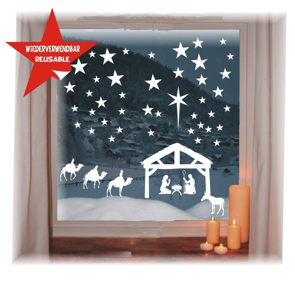 Krippen Fensterbild Weihnachten Krippe Mit 5